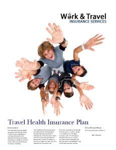 Travel Health Insurance Plan