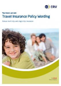 Travel Insurance Policy Wording