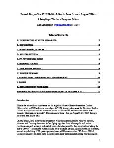 Travel Story of the PHC Baltic & North Seas Cruise - August Ron Anderson 31aug14. Table of Contents