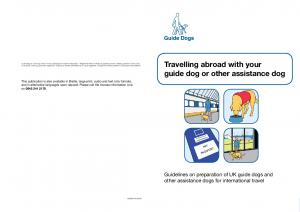 Travelling abroad with your guide dog or other assistance dog