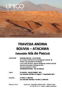 TRAVESIA ANDINA BOLIVIA ATACAMA