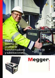 TRAX Sistema de prueba de transformadores y subestaciones