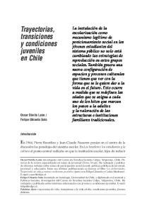 Trayectorias, transiciones y condiciones juveniles en Chile