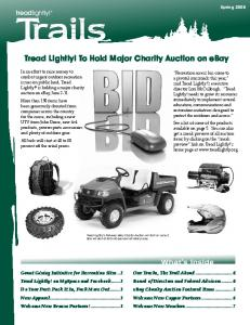 Tread Lightly! To Hold Major Charity Auction on ebay