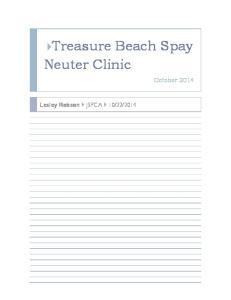 Treasure Beach Spay Neuter Clinic