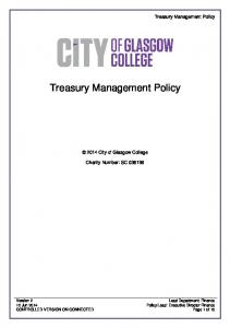 Treasury Management Policy