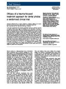 treatment approach for dental phobia: a randomized clinical trial