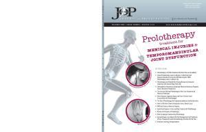 treatment for MENISCAL INJURIES & TEMPOROMANDIBULAR JOINT DYSFUNCTION