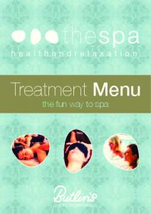Treatment Menu. the fun way to spa