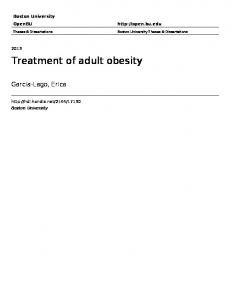 Treatment of adult obesity