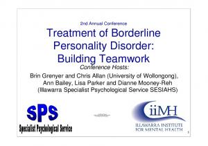 Treatment of Borderline Personality Disorder: