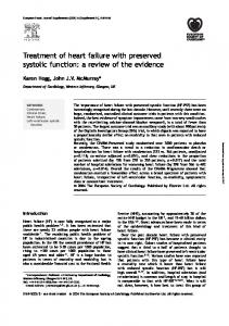 Treatment of heart failure with preserved systolic function: a review of the evidence