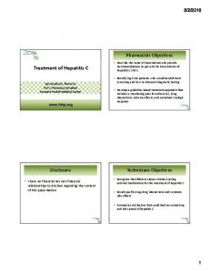 Treatment of Hepatitis C