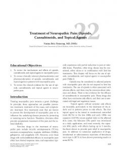 Treatment of Neuropathic Pain: Opioids, Cannabinoids, and Topical Agents
