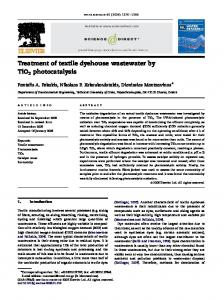 Treatment of textile dyehouse wastewater by TiO 2 photocatalysis