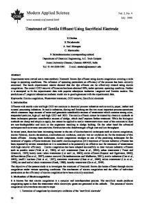 Treatment of Textile Effluent Using Sacrificial Electrode