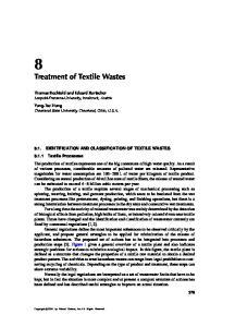 Treatment of Textile Wastes