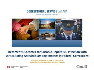 Treatment Outcomes for Chronic Hepatitis C Infection with Direct Acting Antivirals among Inmates in Federal Corrections