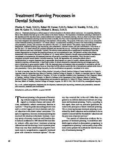 Treatment Planning Processes in Dental Schools
