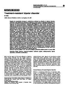 Treatment-resistant bipolar disorder