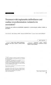 Treatment with implantable defibrillators and cardiac resynchronization: isolated or in association?
