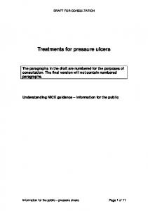 Treatments for pressure ulcers