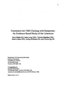 Treatments for TMD Clicking with Symptoms: An Evidence-Based Study of the Literature