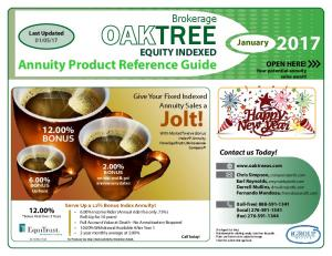 TREE EQUITY INDEXED. Give Your Fixed Indexed Annuity Sales a. Jolt! With MarketTwelve Bonus Index Annuity From EquiTrust Life Insurance Company