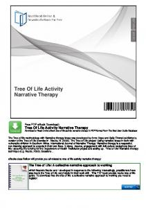 Tree Of Life Activity Narrative Therapy