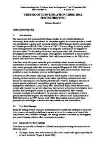 TREE ROOT IDENTIFICATION USING DNA FINGERPRINTING