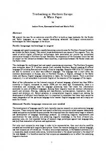 Treebanking in Northern Europe: A White Paper