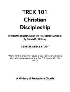 TREK 101 Christian Discipleship
