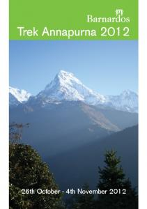 Trek Annapurna th October - 4th November 2012
