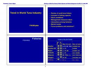 Trend in World Tuna Industry