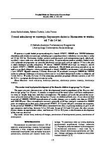 Trend sekularny w rozwoju fizycznym dzieci z Rzeszowa w wieku od 7 do 14 lat