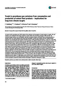 Trends in greenhouse gas emissions from consumption and production of animal food products implications for long-term climate targets