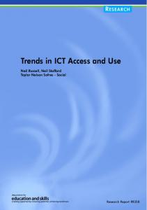 Trends in ICT Access and Use