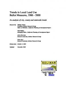 Trends in Local Land Use Ballot Measures,