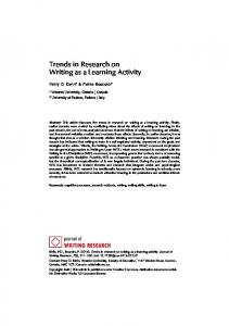 Trends in Research on Writing as a Learning Activity