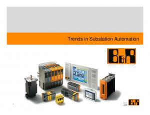 Trends in Substation Automation