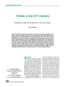 Trends in the ICT industry