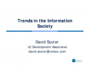 Trends in the Information Society