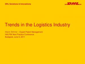 Trends in the Logistics Industry