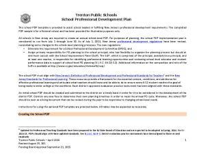 Trenton Public Schools School Professional Development Plan