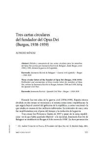 Tres cartas circulares del fundador del Opus Dei (Burgos, )