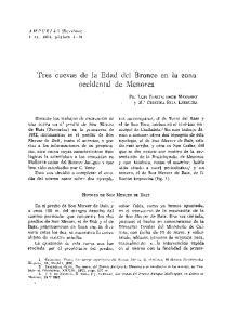 Tres cuevas de la Edad del Bronce en la zona occidental de Menorca