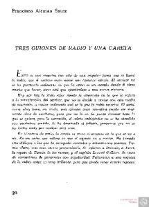 TRES GUIONES DE RADIO Y UNA CARETA
