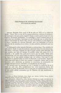 TRES POEMAS DE ANTONIO MACHADO (Un intento de analisis)