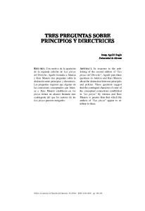 TRES PREGUNTAS SOBRE PRINCIPIOS Y DIRECTRICES
