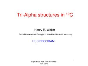 Tri-Alpha structures in 12 C